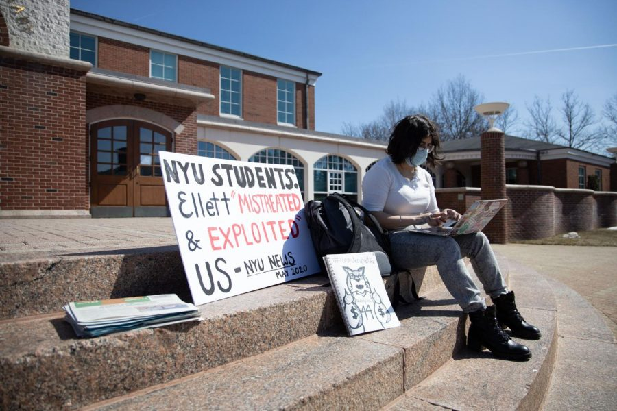 Quinnipiac University students organized a protest against the $90 per semester fee for next semester.