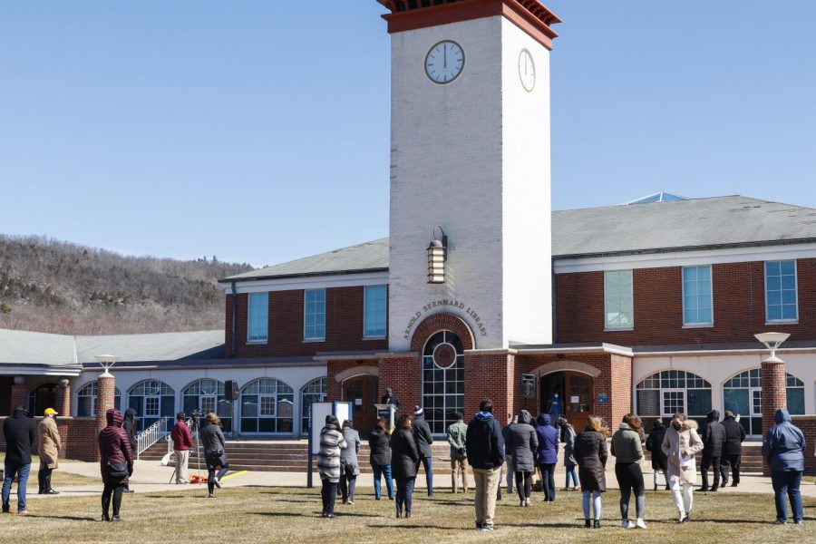 Quinnipiac University held one of its first in-person events this year on March 15, to honor the one-year mark of the COVID-19 pandemic.