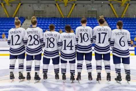The Quinnipiac womens ice hockey seniors (all pictured above) saw their season end on Friday.