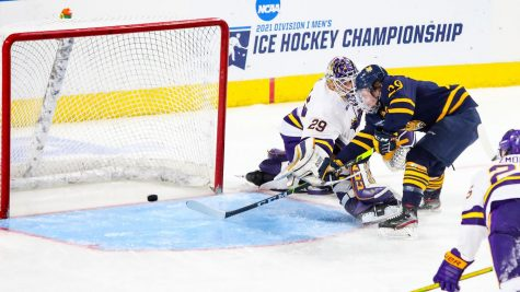 Senior forward Odeen Tufto scored a goal in the first three minutes of the NCAA regional round against Minnesota State.