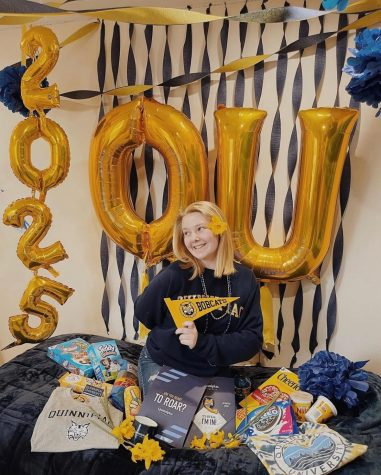 Karli Monsell celebrated her acceptance to Quinnipiac University
