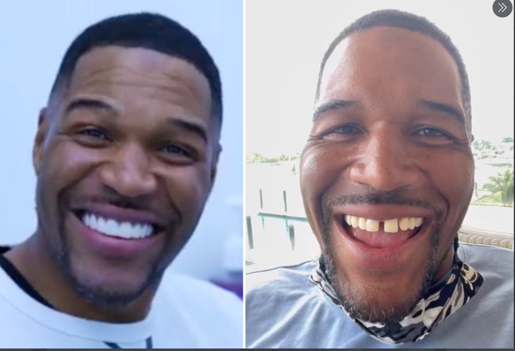 NFL hall-of-famer-turned entertainment star Michael Strahan knew the gap between his front teeth made him stand out but did not realize that so many fans appreciated his smile until he pulled a prank on April Fools' Day.