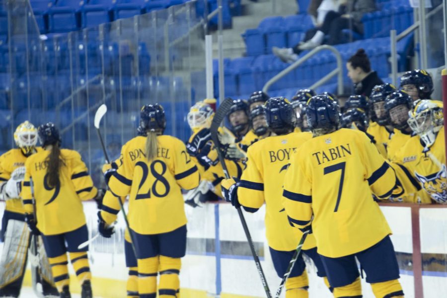 The Quinnipiac women's ice hockey team lost 2-1 to Colgate in the ECAC Hockey semifinal.