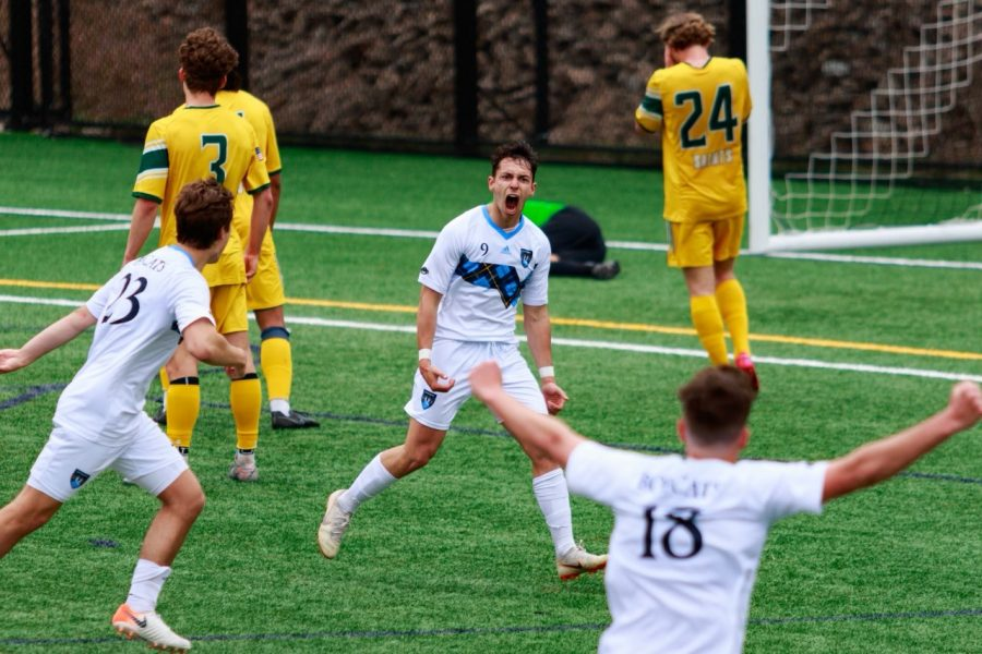 Sophomore defender Domen Bozic scored the game-winning goal in the 78th minute of Quinnipiac's quarterfinal victory over Siena on Sunday.