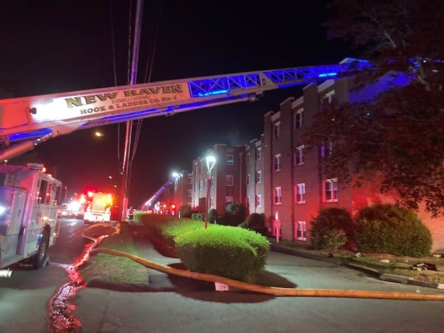 A fire broke at 925 Mix Ave. in Hamden on June 26, displacing 90 families.