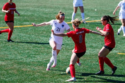 Rebecca Cooke leads the team in goals so far this season with seven. Photo from