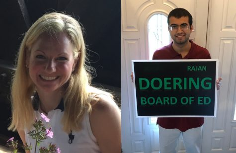 Melissa Kaplan (left) and Rajan Doering (right) are running for local Boards of Education.
