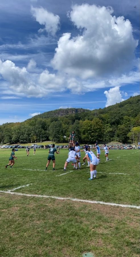 The Quinnipiac rugby team lost by 40 points to Dartmouth on Saturday.
