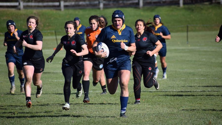 Ilona Mahers proximity to New England universities allows her to visit college rugby teams to discuss the future of the sport.