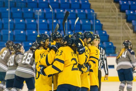The Bobcats continued their undefeated season after their 4-3 win over Saint Anselm. Photo from