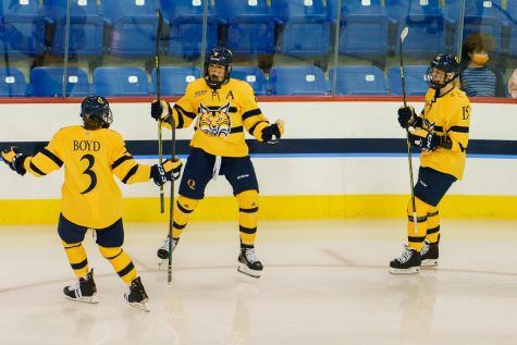 Senior forward Lexie Adzija had two assists on Saturday night, her fourth and fifth of the year. Photo from