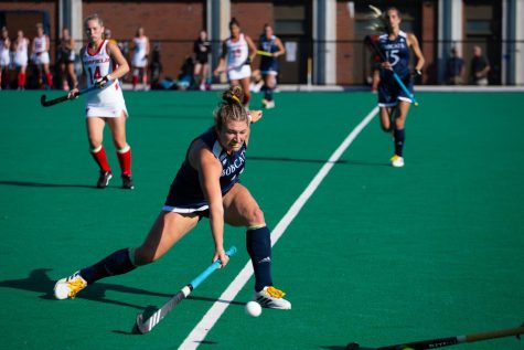 The Bobcats broke their nine-game losing streak with a 3-2 overtime win against the Yale Bulldogs. Photo from