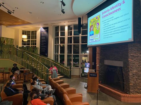 On Oct. 13, Luz Burgos-Lopez, assistant dean of students at the University of Connecticut, hosted a dialogue about the intersectionality between LGBTQ and Latino identities.