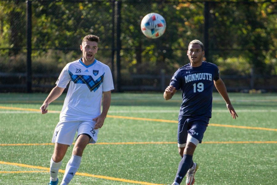 Despite missing two penalty kicks, the Bobcats hung on for a 2-1 win over the Monmouth Hawks thanks to Jason Budhais 88th-minute game-winner. Photo from