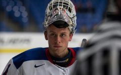 Graduate student goaltender Dylan St. Cyr played in an NCAA championship game with Notre Dame.